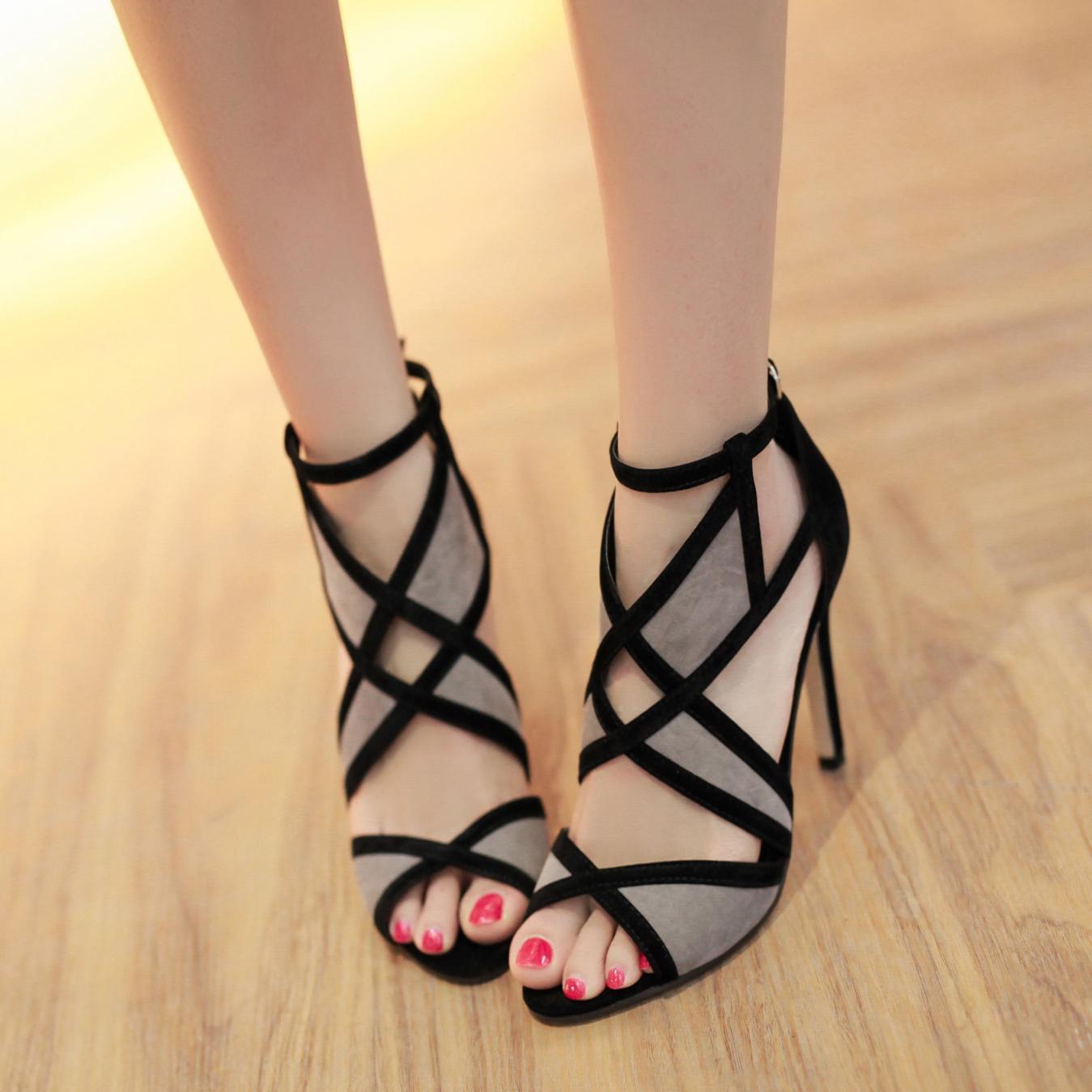 韓國魚嘴涼鞋女夏性感