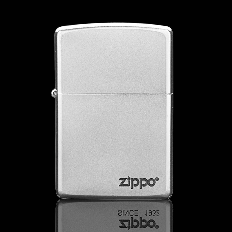 Original product ZIPPO lighter 24756 black dazzling ice surface can be customized pattern carving cabinet