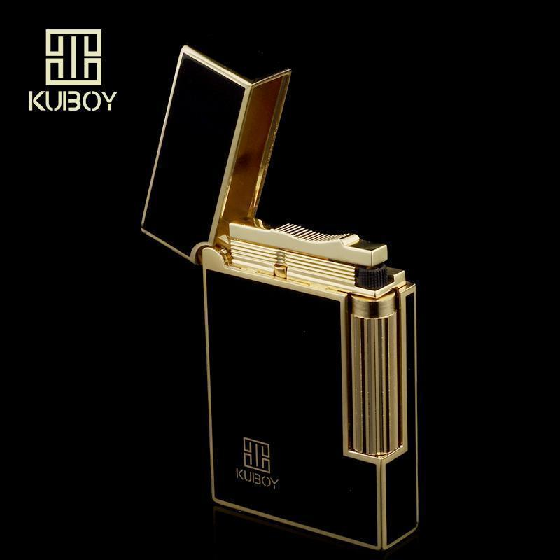 Kubao plating filling gas lighter side steel pulley genuine birthday gift creative custom lettering crisp sound