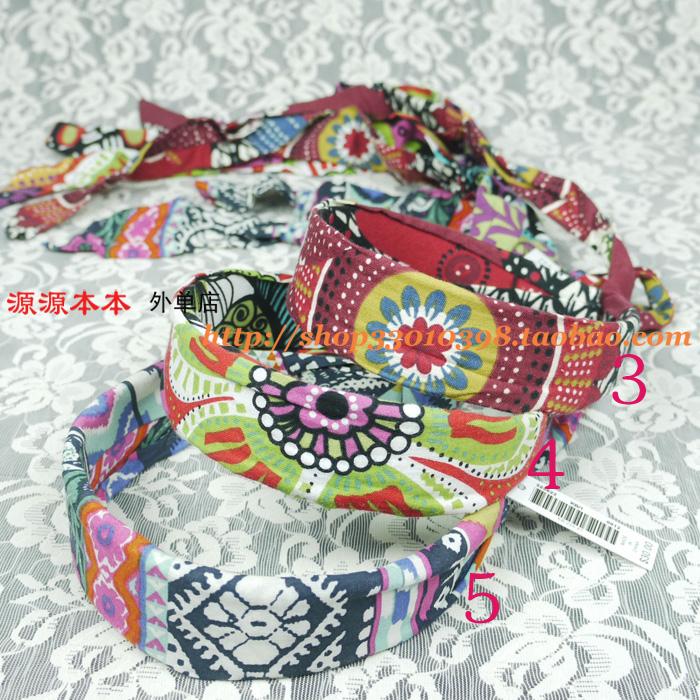As exportações de algodão e gucci acessórios padrão Longo colorido com fitas de cabelo headband cabelo Grande