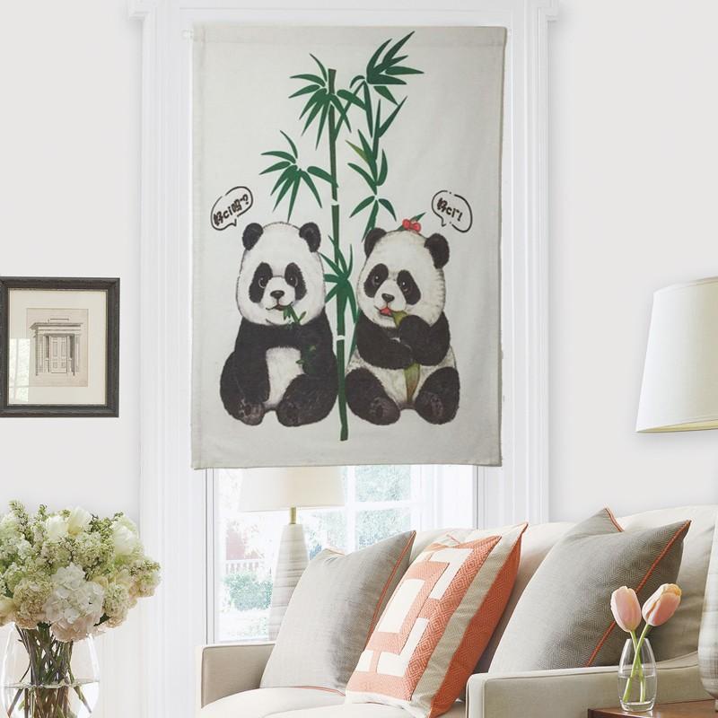 rozkošná panda 棉麻 pro domácnost ze závěsů feng shui k odstavci 玄关 závěs kuchyně na míru kabiny přístřeší závěs ze závěsů