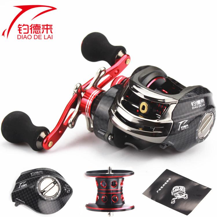 O eixo magnético de freio Vermelho 13 gotas de Estrada Roda Direita 亚轮 pesca spinning pesca pesca boutique