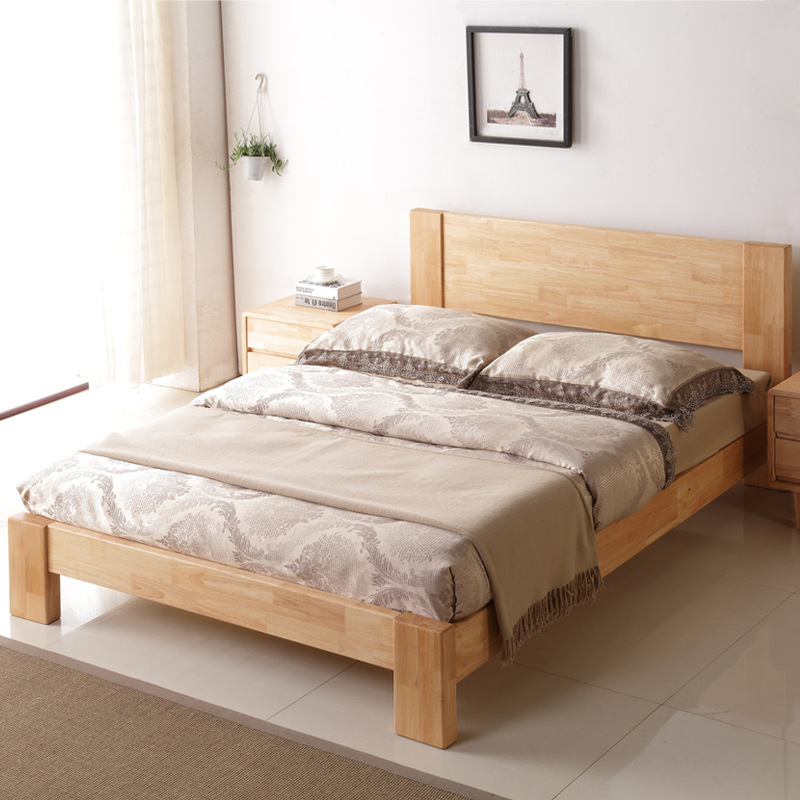 The package includes all solid wood beds, log furniture, single bed, 1.8 double beds, 1.5 oak beds for children, and Nordic beds