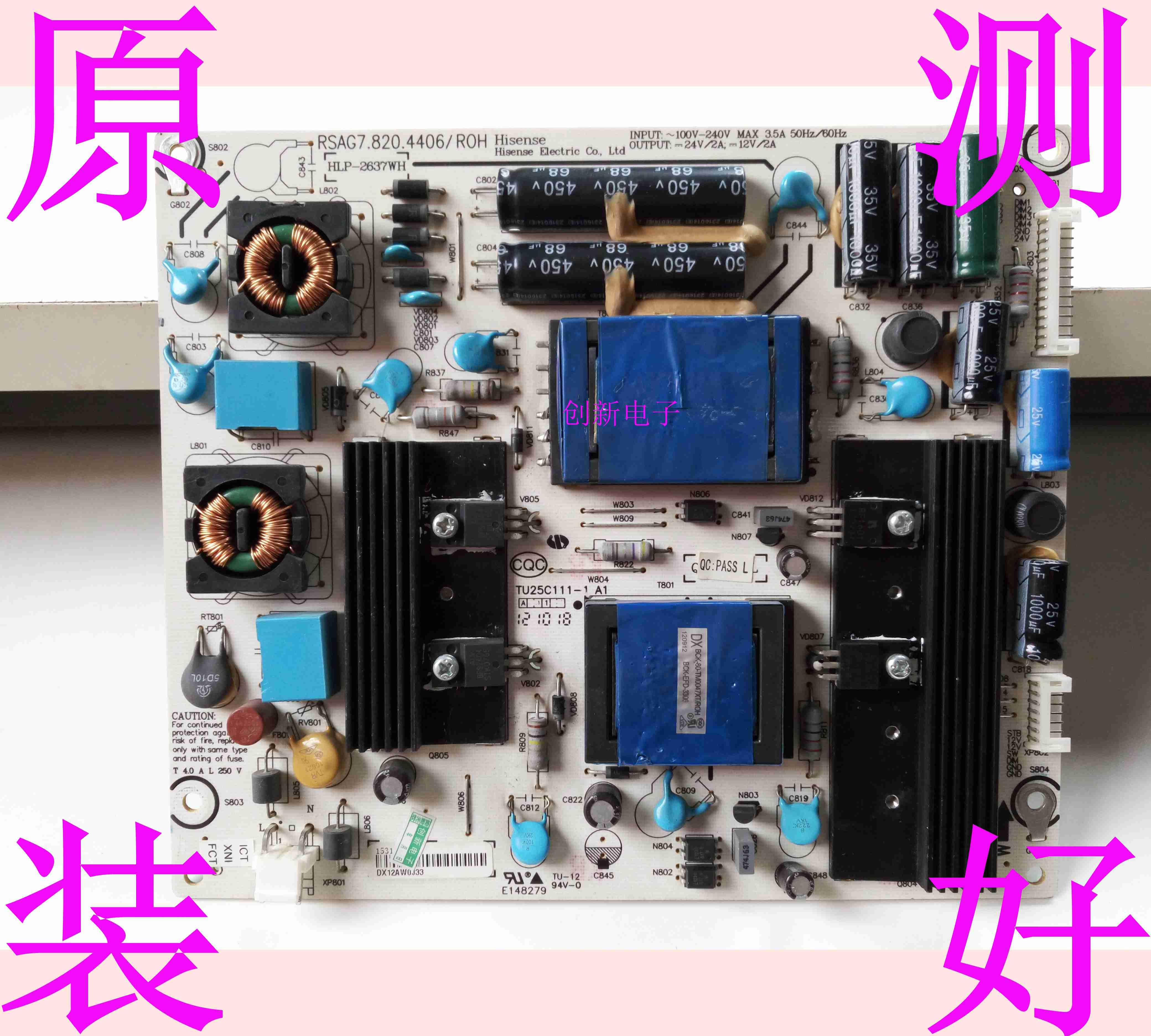Hisense LED39K200J Originale di potere del Consiglio RSAG7.820.4406/ROH TV LCD