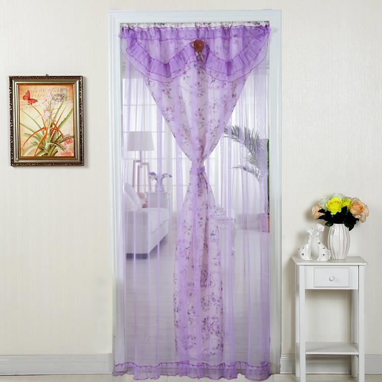 Tissu de dentelle de passagers du rideau rideau rideau rideau de séparation de la Chambre des salles de bains cuisine semi - rideau rideau