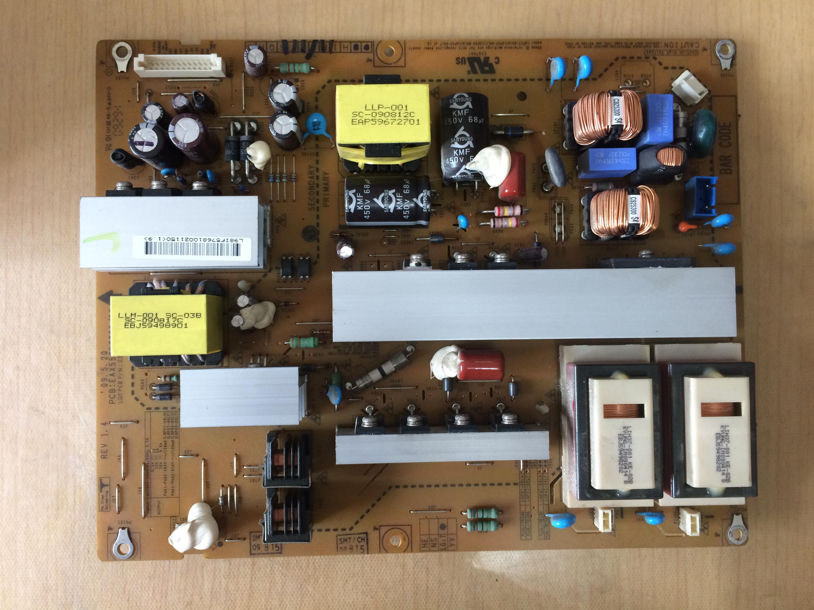 LG LCD - TV 37LH23UR-CA Power Board LGP37-09LH