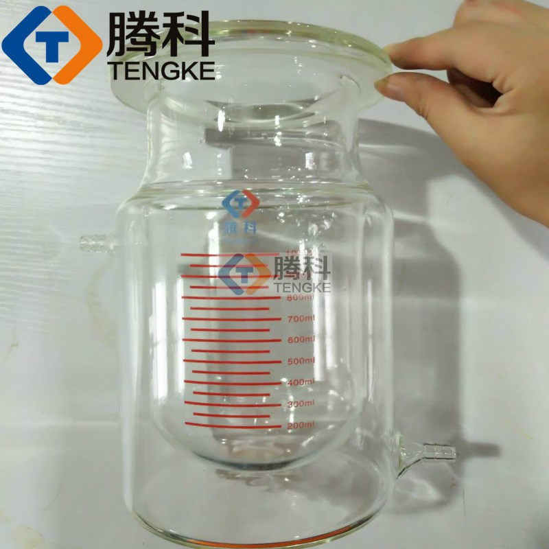1000ml opening reactor of reaction kettle 1L four jacketed reactor with scale of double layer reactor