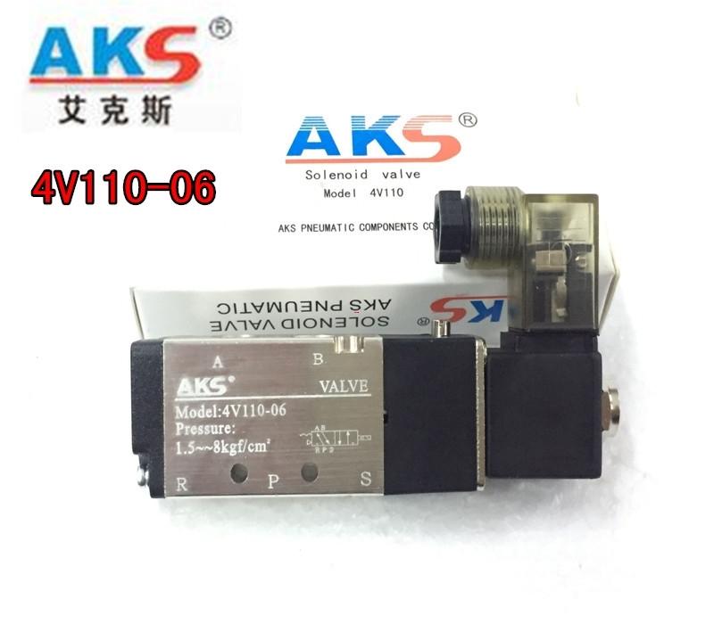ак Aix 4V110-06 второй позиции пяти через клапан электромагнитный клапан с пневматическим приводом клапана регулирования DC24VAC220V