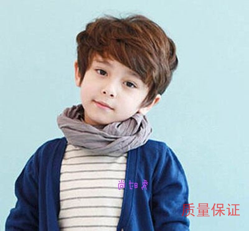 热卖的儿童假发小男孩短发假头套男童假发帅气蓬松男童宝宝短卷发