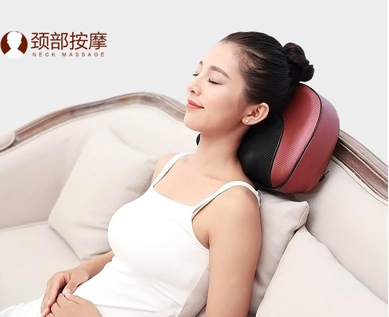 Masajeador cervical, la cabecera de la cama de masaje doméstico multifunción Wireless Radio cintura carga cuello dormir dormir