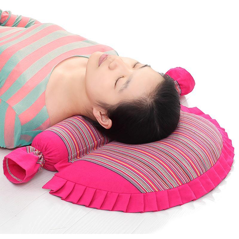 成人円形そば殻ケツメイシ漢方薬の枕護頚保健の枕枕シングル頸椎蕎麦頸椎枕