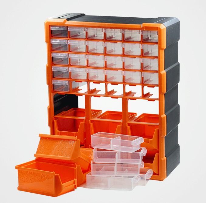 lådan var reparations verktyg, indelat i fält tjock rektangulär del plast som delar av plast utan omfattar utrustning och tillbehör
