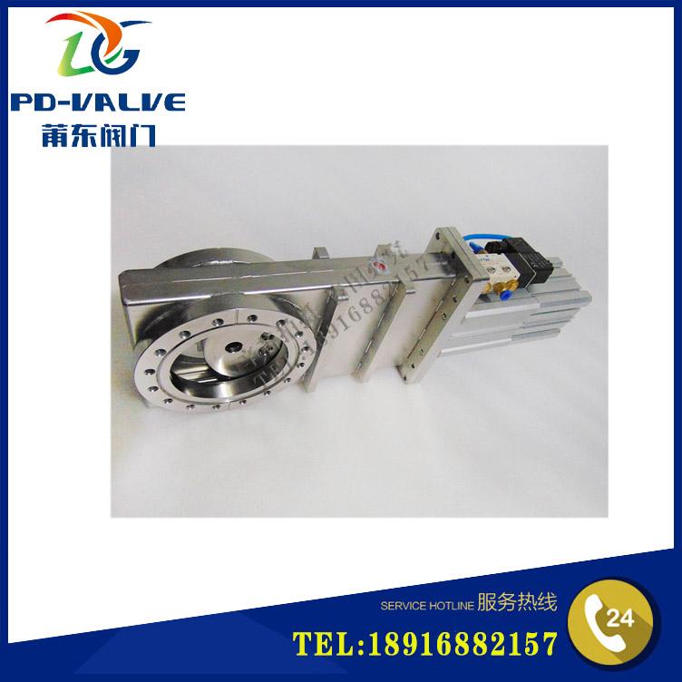 Stainless steel pneumatic super high vacuum flapper valve CCQ-100