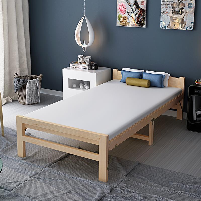 простой 1,2 метра деревянные кровати НПД для взрослых детей, деревянные кровати односпальные кровати Кровать простой двухместный складные 1,5 метров небольшой кровать