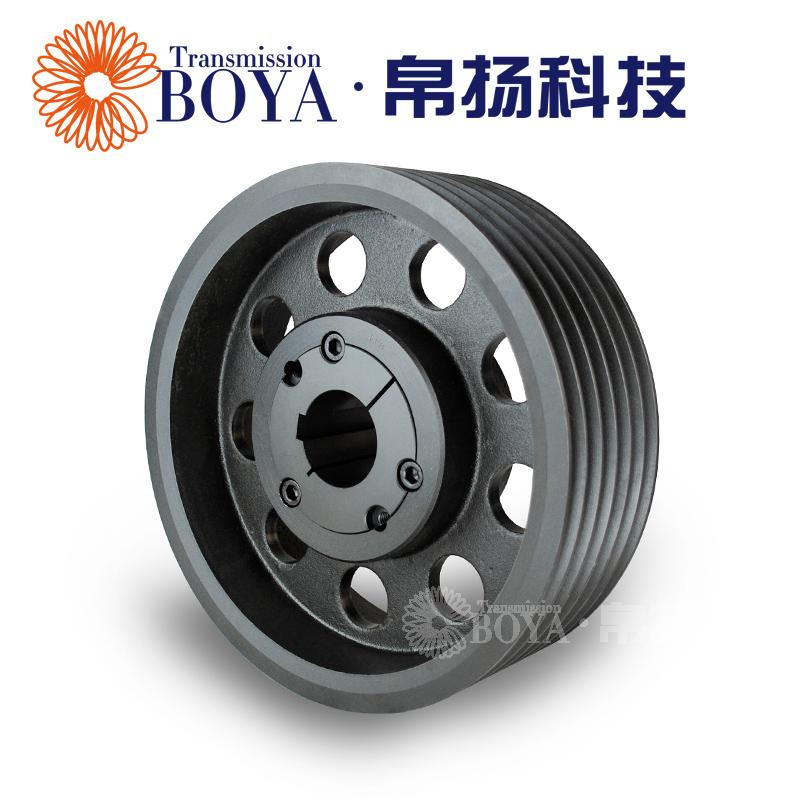 Bo Yang European standard V belt wheel 6 slot SPB300-06 sleeve 3535 cast iron centrifugal fan reducer