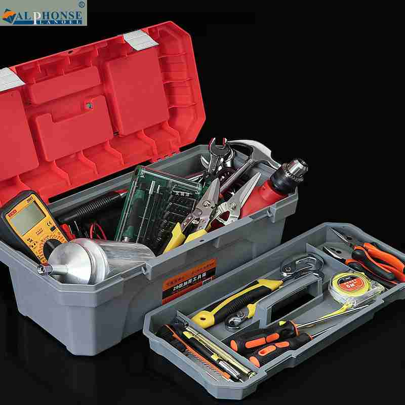 Storage box hardware toolbox, plastic multifunctional combination box, machine repair, car mounted, portable, portable