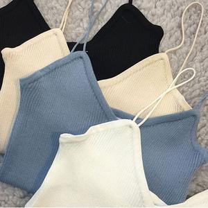 特价 夏季欧美风V领性感吊带女时尚修身显瘦外穿薄针织背心打底衫