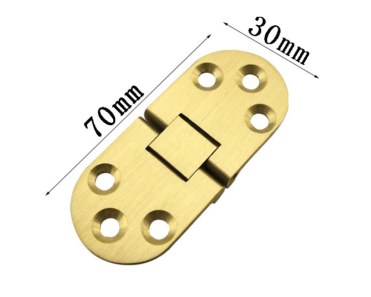 2.5 inch pure brass plate hinge concealed hinge folding hinge golden thickened flap hinge hinge material table