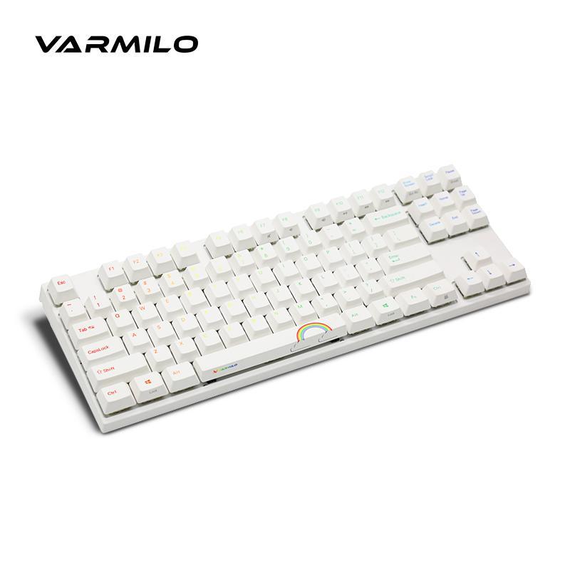 العشب الأخضر varmilo 阿米洛 va87m الكرز الكرز لوحة المفاتيح لوحة المفاتيح الميكانيكية لعبة الشاي الأخضر الأحمر
