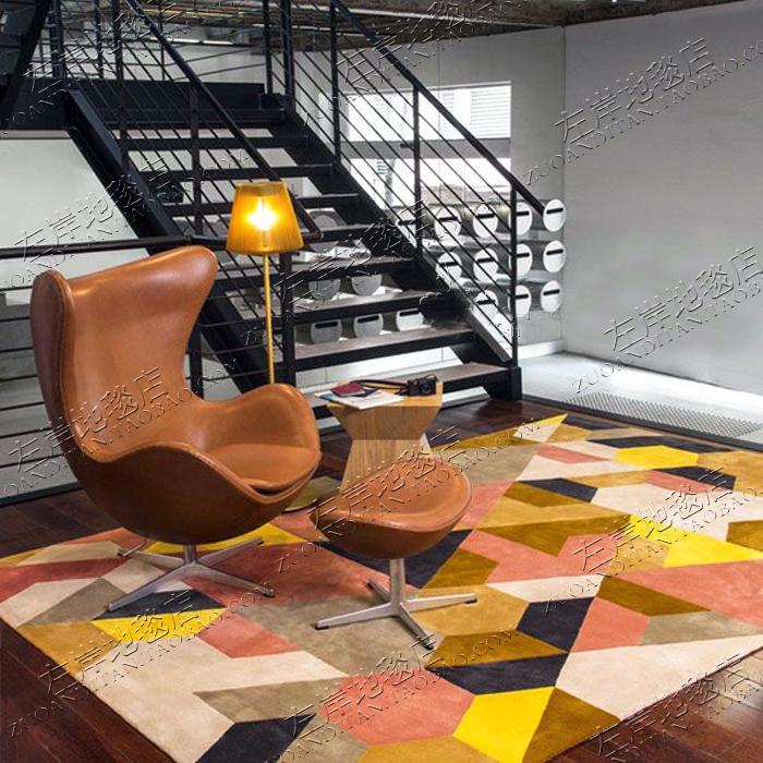 ファッション的なシンプルなカラー格子のイケアカーペットソファ、リビングカーペット、ベッドルーム、手仕事のベッドルーム