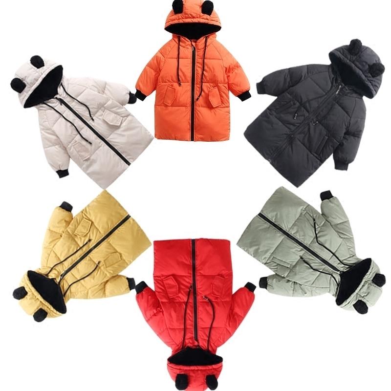 儿童羽绒服中长款冬装新款女童轻薄外套韩版男童宝宝白鸭绒1-3岁5
