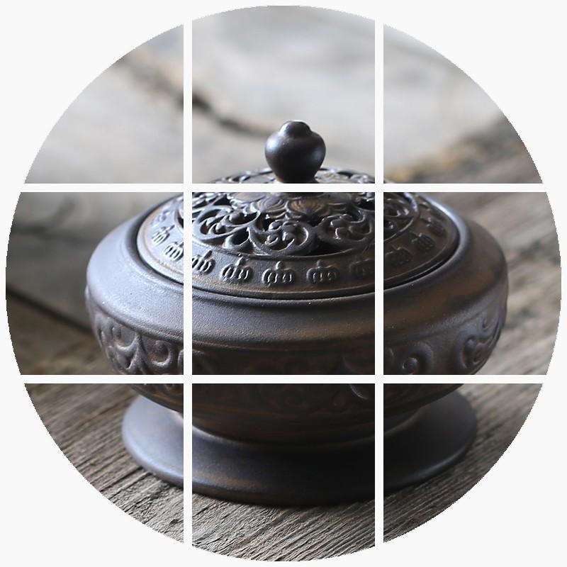 зарубежные покупки зарубежных покупки кадило керамические старинное аромат сандалового дерева диск кадило ладан бытовой Садо печь
