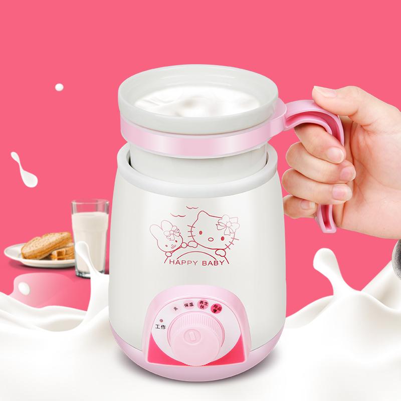 La taza de la División mini - calentar la leche de avena taza cerámica eléctrica portátil de viaje de agua hirviendo una taza de guiso de salud.