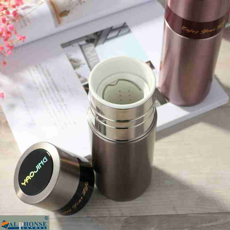 Ceramic liner stainless steel vacuum insulation Cup China men and women business vehicle portable gift cup of tea