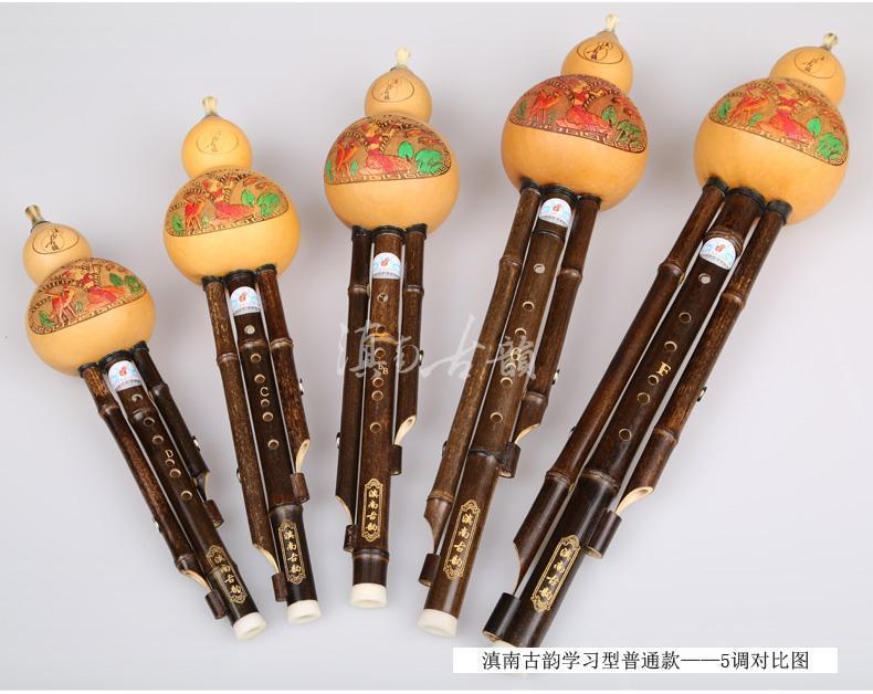 Los instrumentos musicales de los estudiantes adultos hulusi niños envueltos de entrada 5