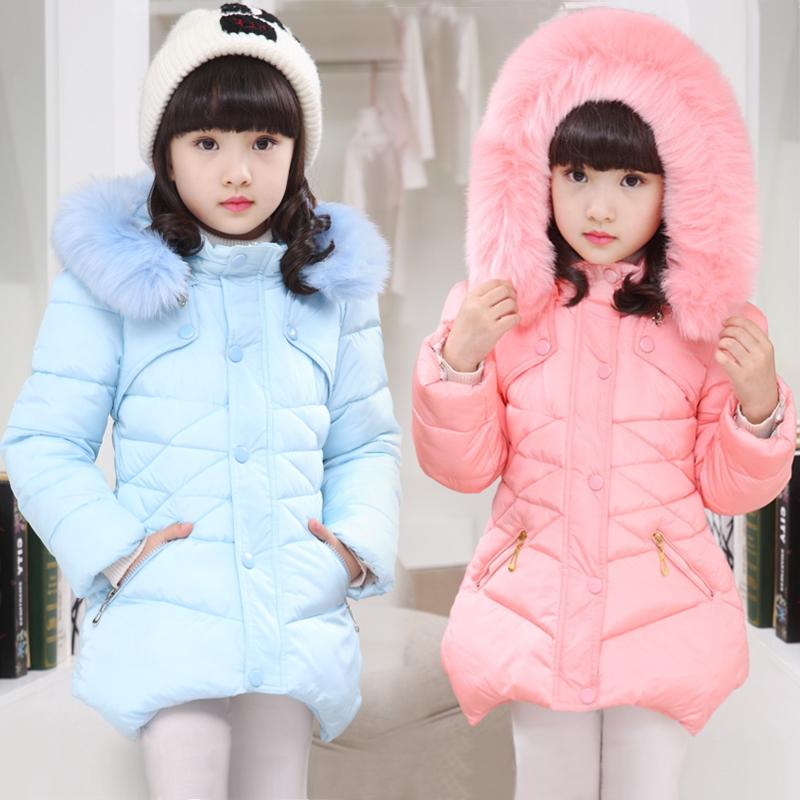 童装2017冬装新款女童棉衣外套冬季加厚中长款小女孩棉袄儿童棉服