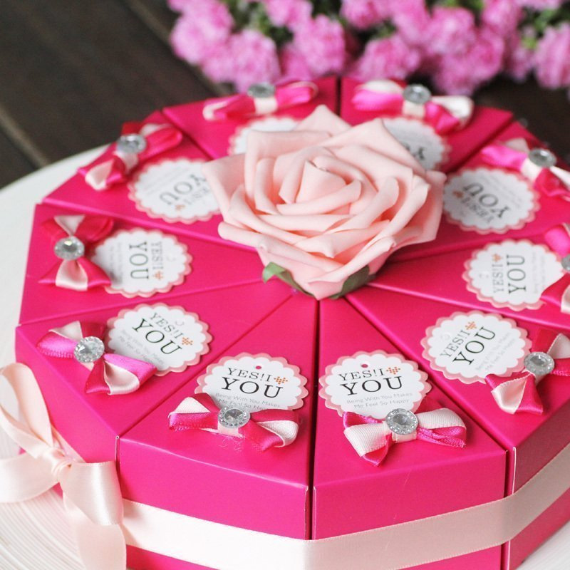 Creative wedding candy boxes wedding cake gift boxes triangle box of candy candy packing box