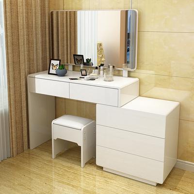 Dressing Table Modern bedroom dresser white high-grade retractable dressing table