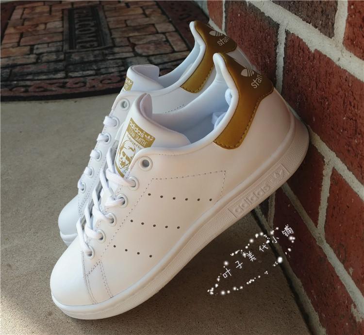 アメリカ代購アディダスadidasStanスミススミスの金尾白靴BB0209婦人靴