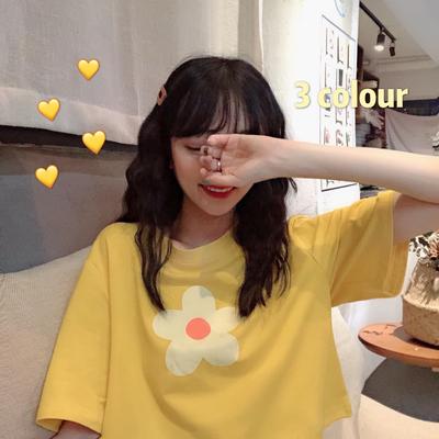 学生ins短袖t恤女新款夏装韩版少女宽松百搭半袖上衣