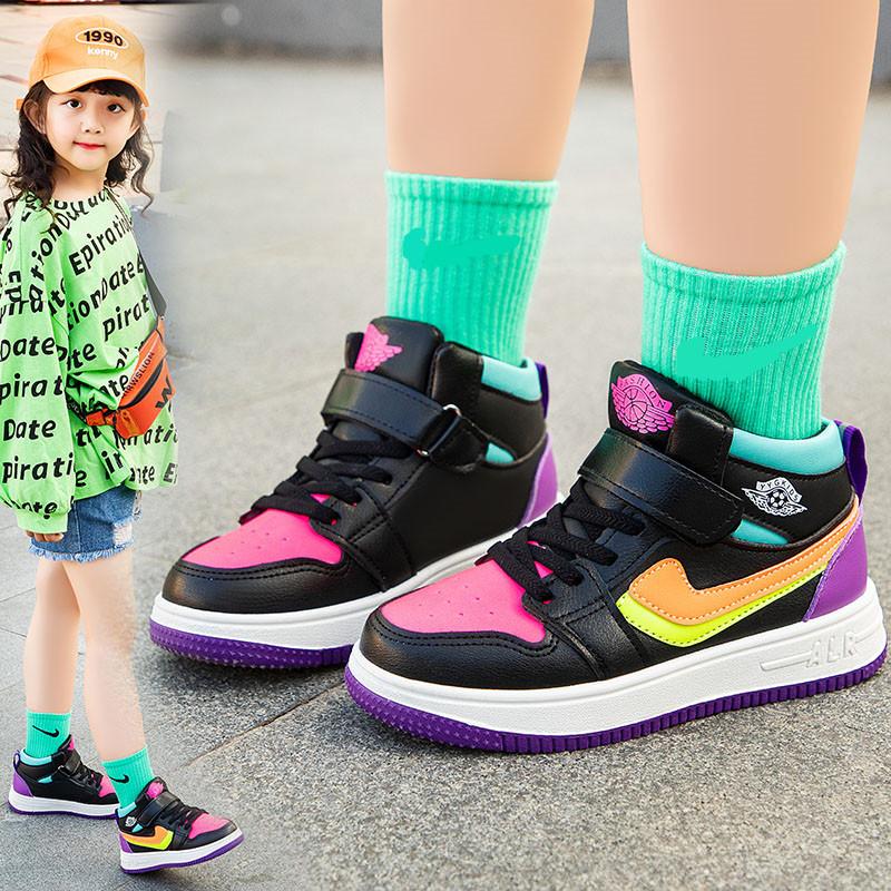 2020秋季新款儿童运动鞋男童女童休闲鞋中低帮马丁靴学生透气板鞋