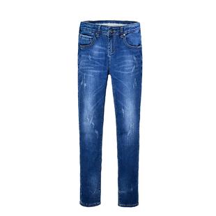 SAYBON圣邦 牛仔裤男宽松直筒男裤秋季商务休闲长裤大码弹力裤子