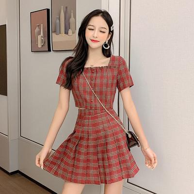 泫雅风套装女2019夏网红套装裙心机裙子很仙两件套