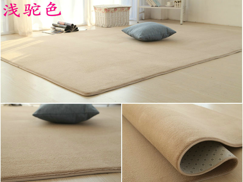 Japanese machine washable cotton carpet in the living room coffee table bedroom bed blanket tatami mats manual plain yoga mat