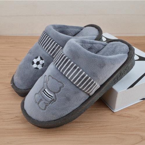 冬季男童棉拖鞋中大童小学生居家棉鞋儿童7-9-11-13岁大男孩拖鞋