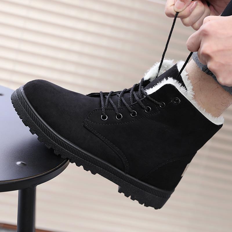冬季高帮棉鞋加绒加厚棉靴休闲韩版中筒男鞋子男士板鞋原宿风冬鞋