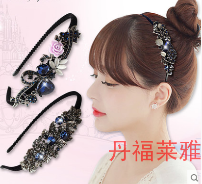 This cheap superstar girl hair headdress middle-aged mother with teeth slip hoop hair head wide brimmed
