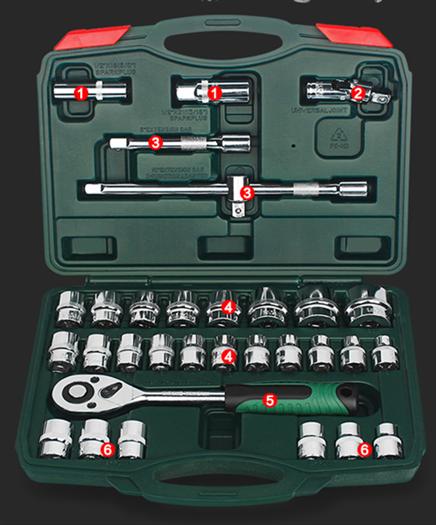 Ratchet, anzug und ein ärmel Security - Automobil - hardware - toolbox für spezielle Gruppen - 0