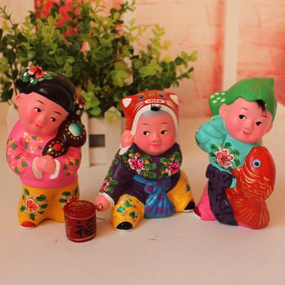 中国风传统手工艺品摆件 天津特色泥人张出国送老外外事礼品摆件