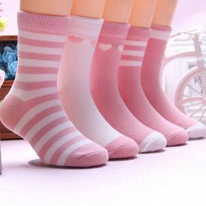 儿童袜子纯棉秋冬中筒袜2男童女童加厚冬天防滑宝宝袜子4-6-8-9岁