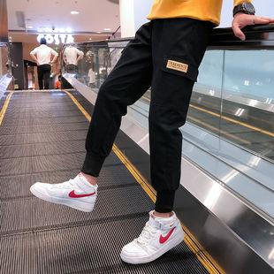 裤子男工装裤男宽松大码束脚裤潮流九分裤多口袋休闲裤男士工装裤