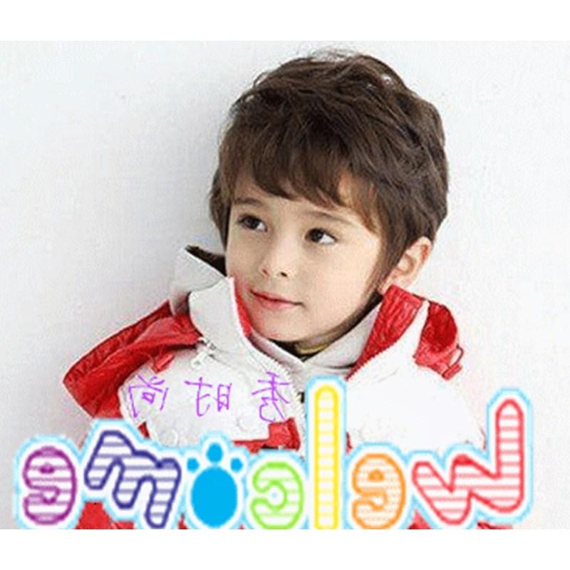儿童小男孩短发假头套男童帅气蓬松男童宝宝短卷发齐假发