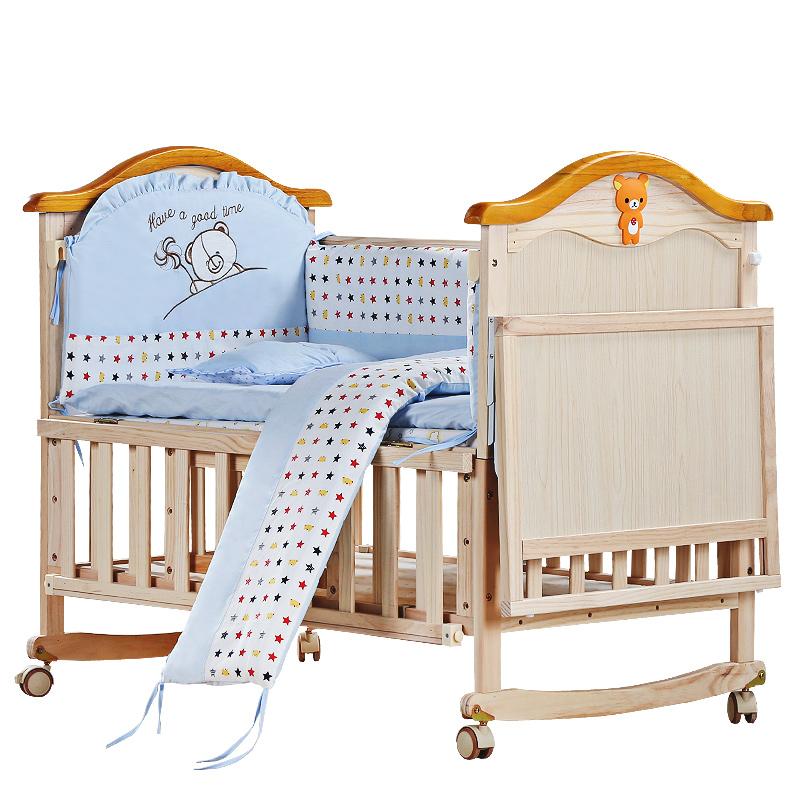 ベビーベッド材の赤ちゃんはベッドの多機能の環境保護無漆味bbベッドの児童のベッド可変少年ベッド