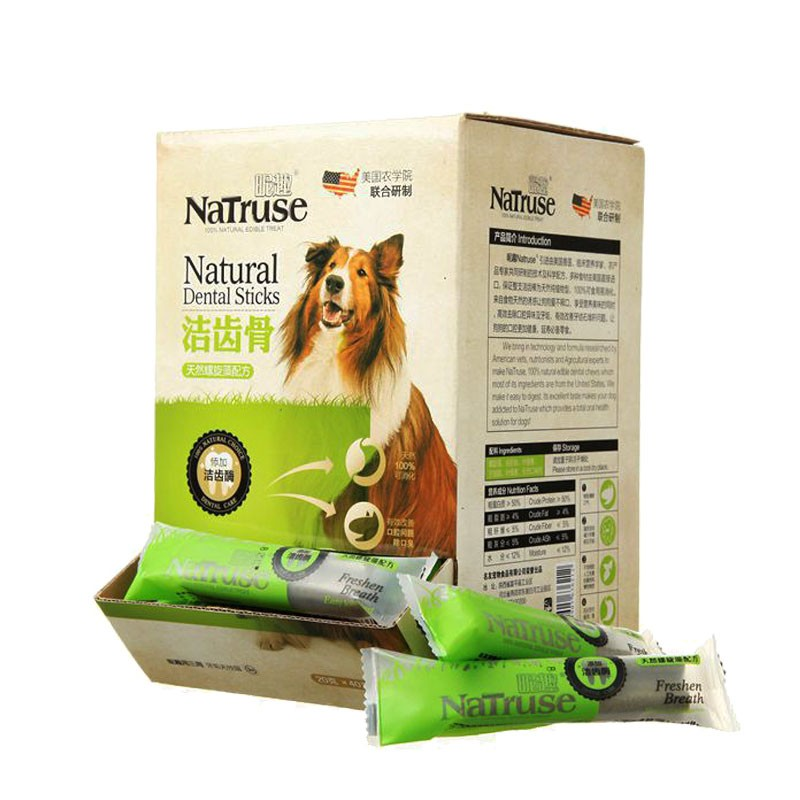 One interesting dog snacks Spirulina bone teeth stick single 20g Tactic dog chews pet snacks