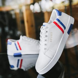 2019夏秋新款男士板鞋男百搭休闲鞋子韩版潮流小白鞋皮鞋平底单鞋
