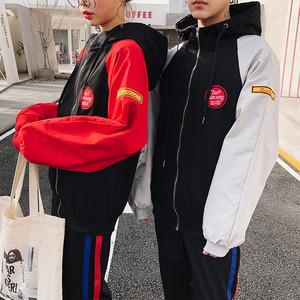 開學季2018新款韓版情侶裝秋裝寬松學生百搭bf外套短款棒球服夾克